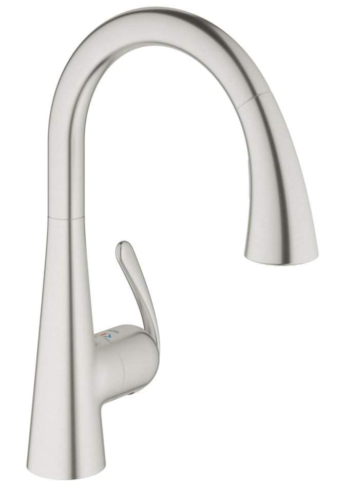 grohe kitchen sink taps grohe zedra kitchen sink mixer tap stainless steel 4103