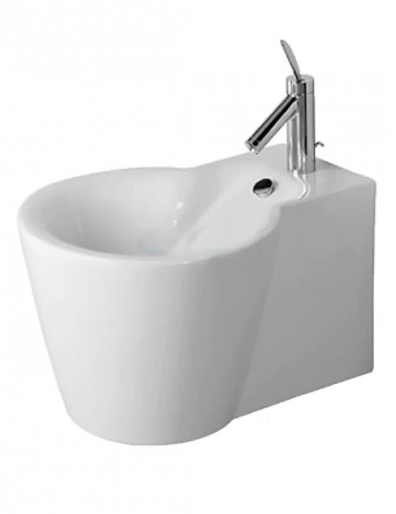 duravit starck 1 wall mounted white finish bidet 410 x 575mm. Black Bedroom Furniture Sets. Home Design Ideas