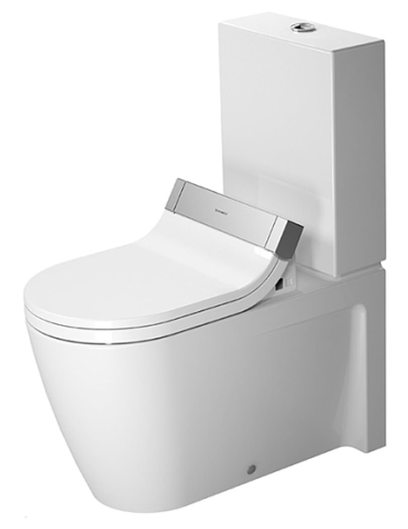 duravit starck 2 close coupled toilet with sensowash seat. Black Bedroom Furniture Sets. Home Design Ideas