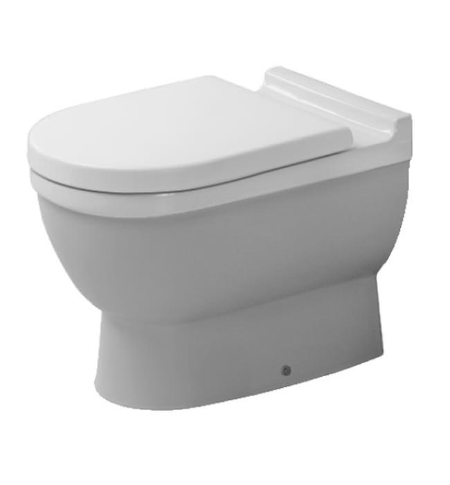 duravit starck 3 white finish floor standing toilet 560mm. Black Bedroom Furniture Sets. Home Design Ideas