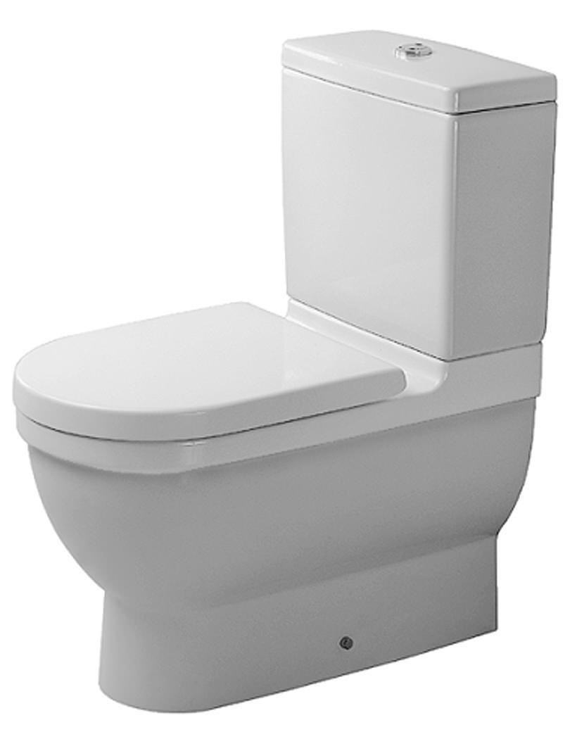 duravit starck 3 close coupled toilet and cistern with seat 360mm. Black Bedroom Furniture Sets. Home Design Ideas