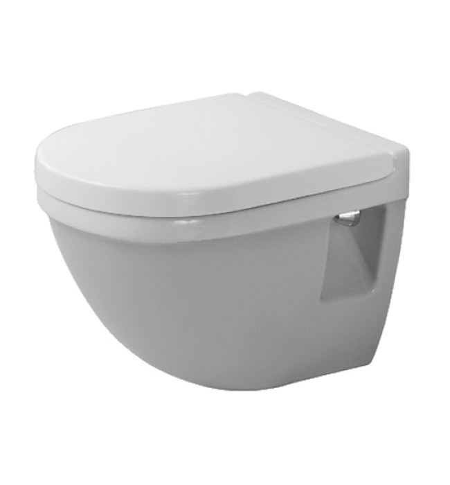 Duravit Starck 3 Wall Mounted Compact Toilet With Seat 360mm