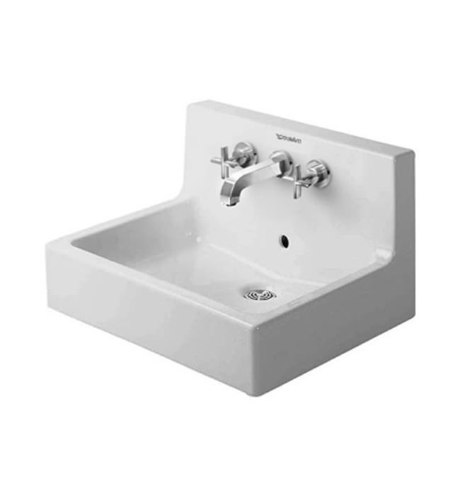 duravit vero white 600 x 470mm 3 tap hole washbasin. Black Bedroom Furniture Sets. Home Design Ideas