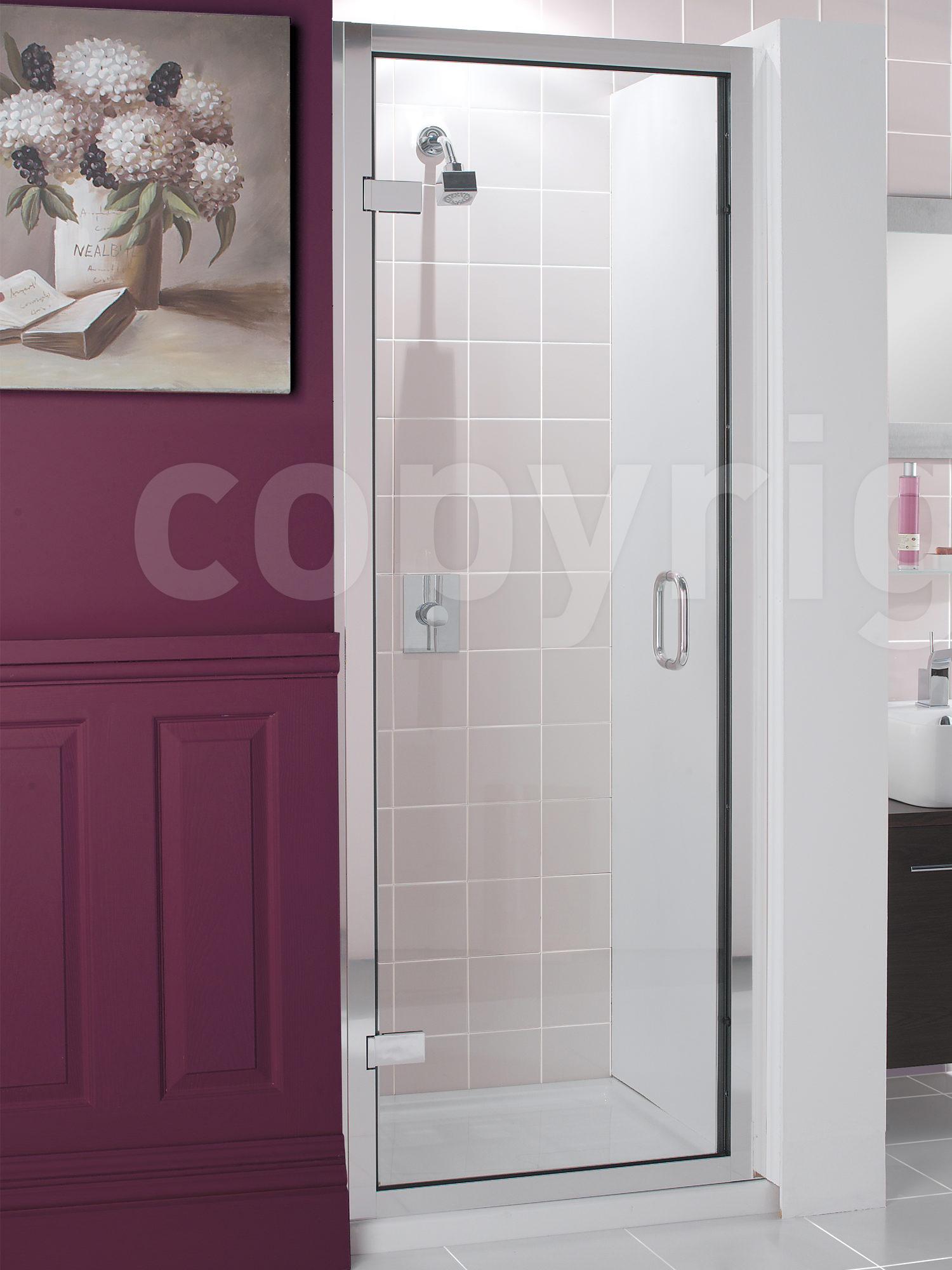Simpsons Classic Frameless 760 800mm Hinged Shower Door