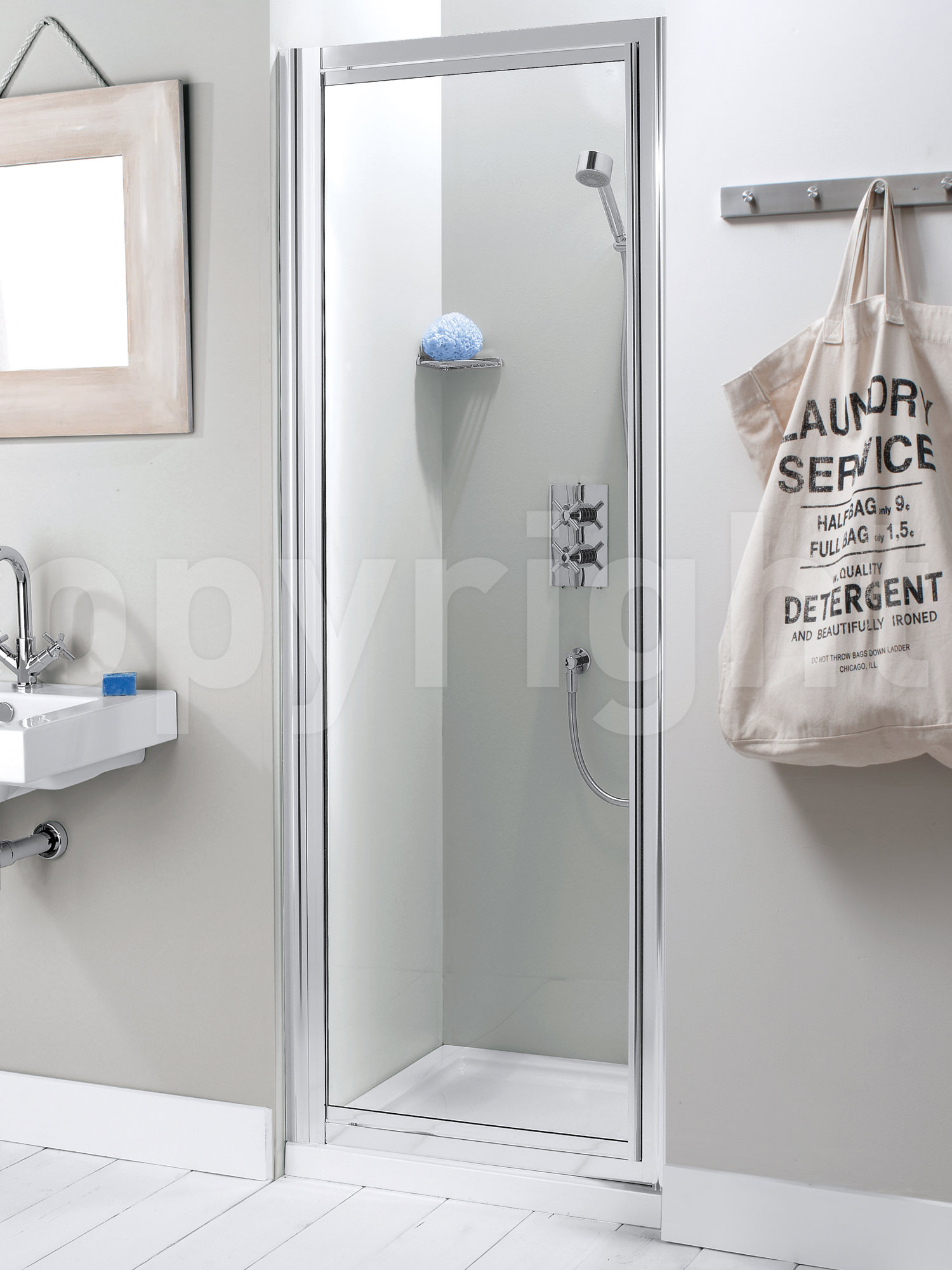 Simpsons Supreme 800mm Plus Framed Pivot Shower Door
