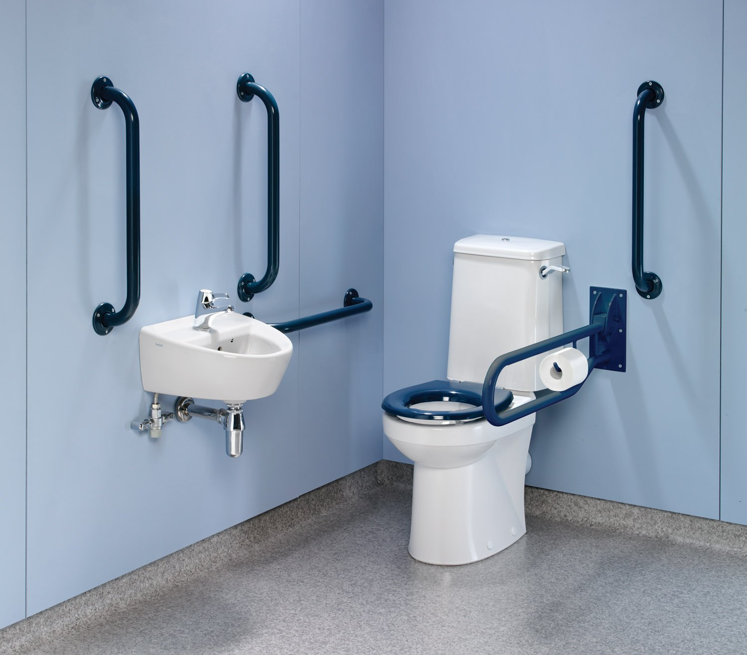 Exceptionnel M Rimless Value Pack With Blue Grab Rails And Seat