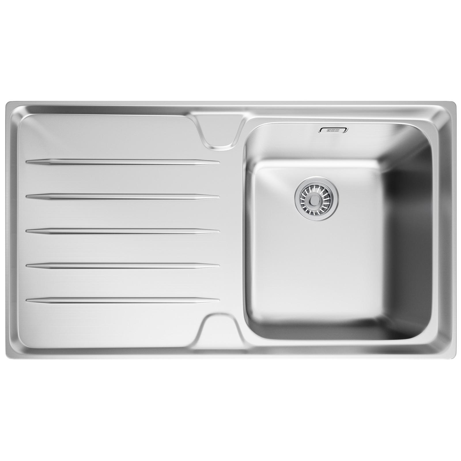 Franke Square Inset Sink : Franke Laser LSX 611 Stainless Steel Left Hand Drainer 1.0 Bowl Inset ...