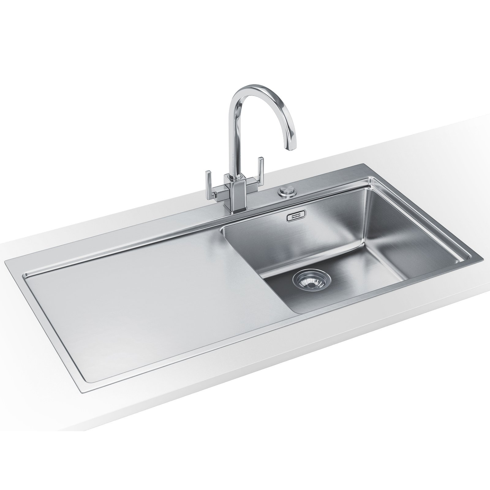 Franke Mythos MMX 211 DP - Stainless Steel Left Hand Drainer Sink And ...