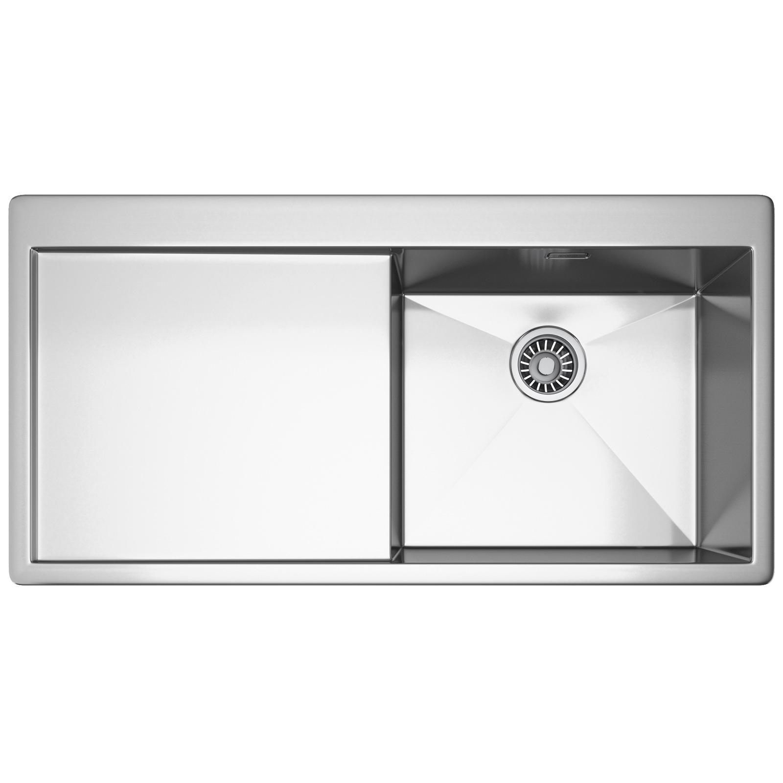 franke planar ppx 211 stainless steel left hand drainer 10 bowl inset sink - Franke Sink