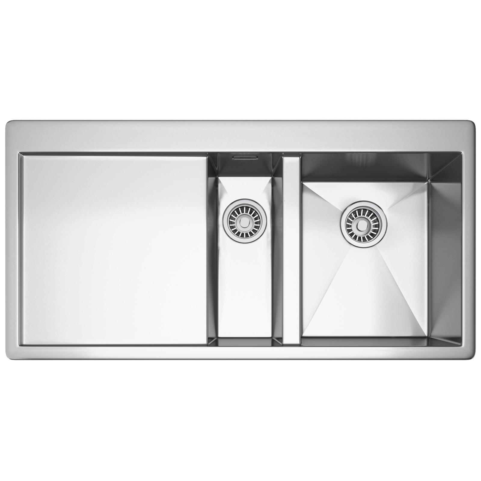 franke planar ppx 251 stainless steel left hand drainer 15 bowl inset sink - Franke Sink