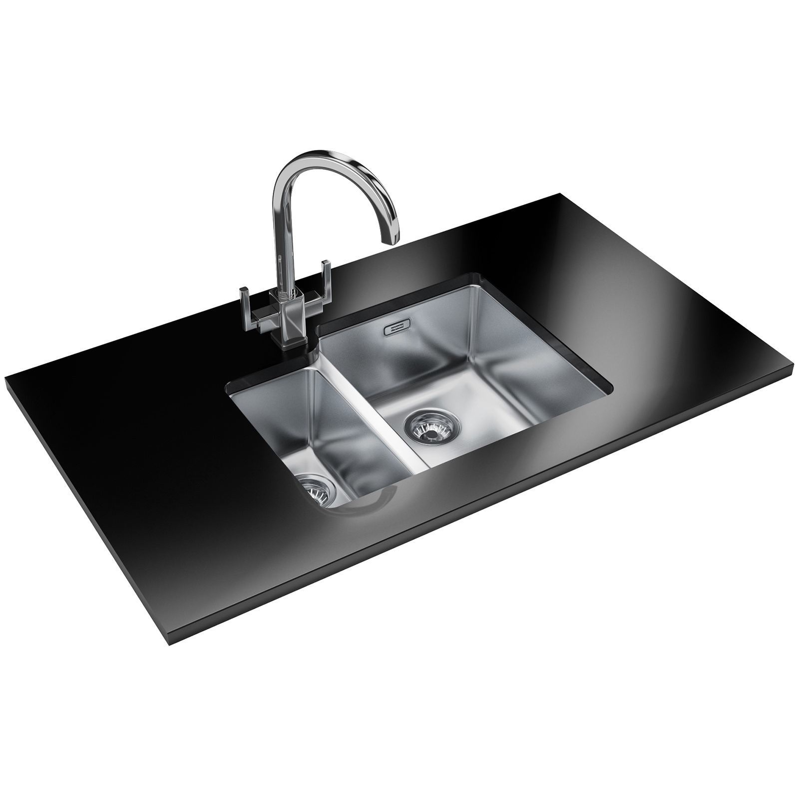 Designer Stainless Steel Sinks : ... Kubus KBX 160 34-16 Designer Pack - Stainless Steel Sink And Tap