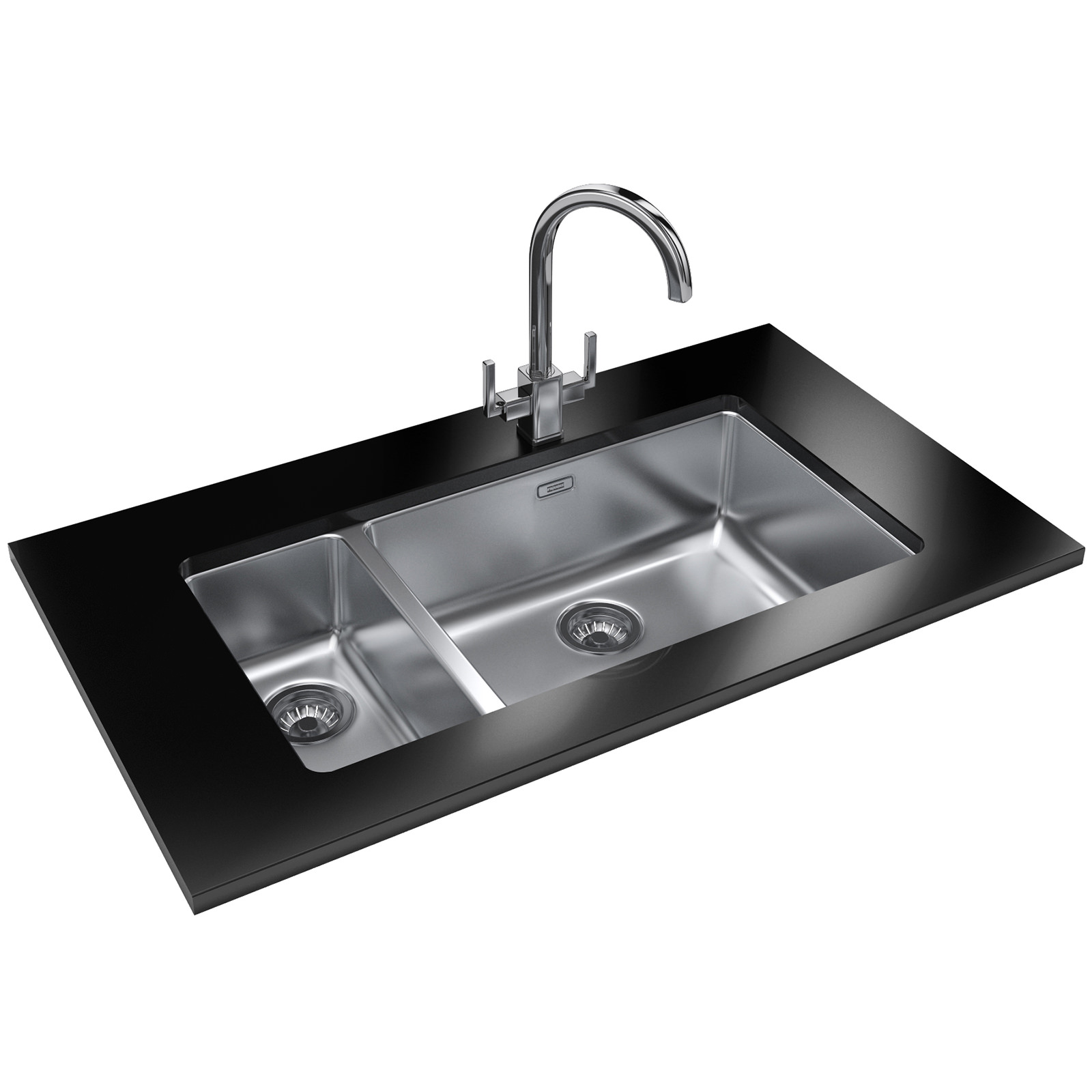 Franke Ss Sinks : Franke Kubus KBX 160 55-20 Designer Pack - Stainless Steel Sink And ...