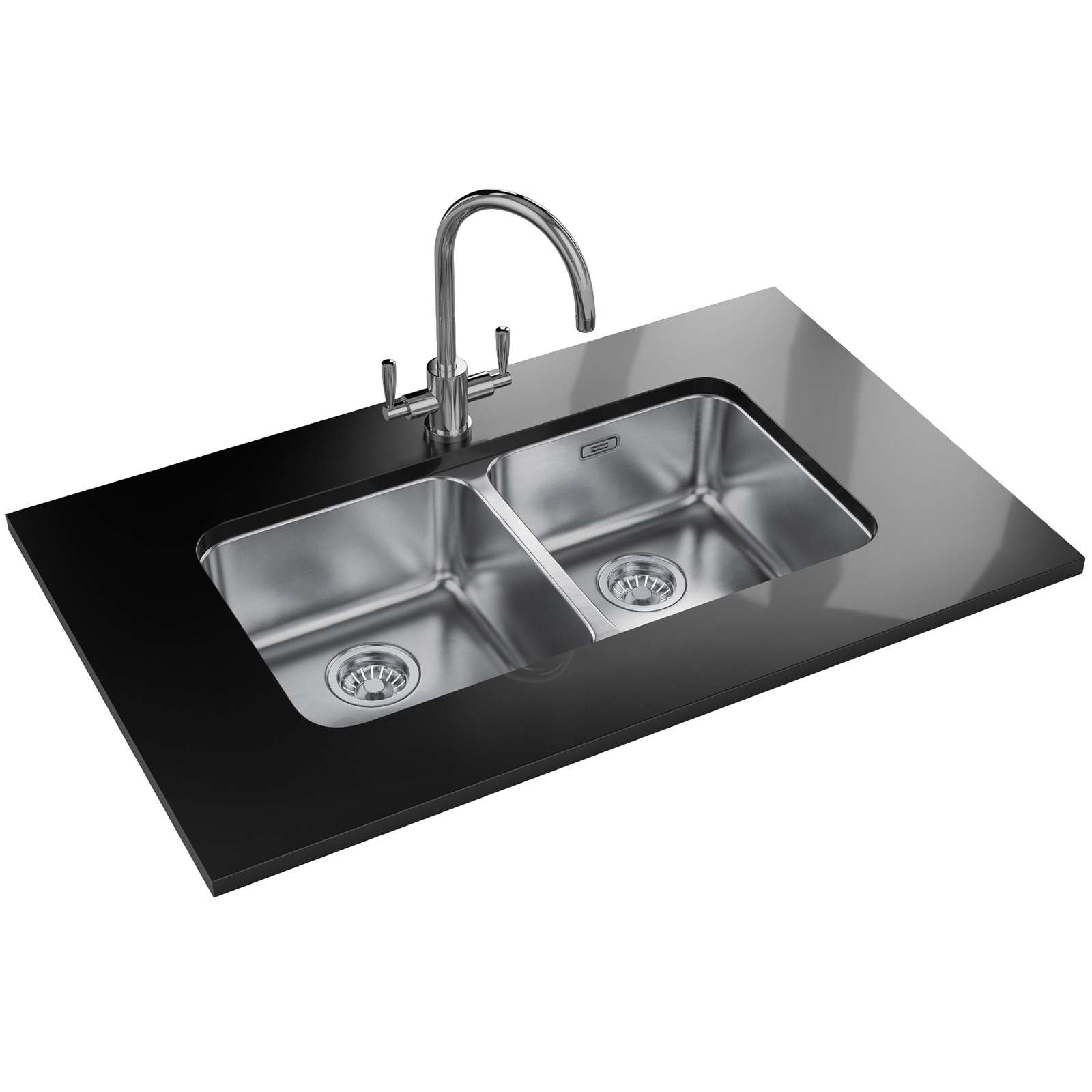 Franke Largo LAX 120 36-36 DP - Stainless Steel Sink And Tap