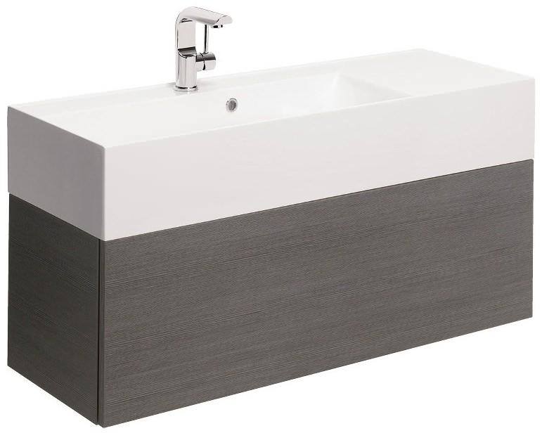 Bauhaus elite steel 1000mm single drawer basin unit for 1000mm kitchen drawer unit
