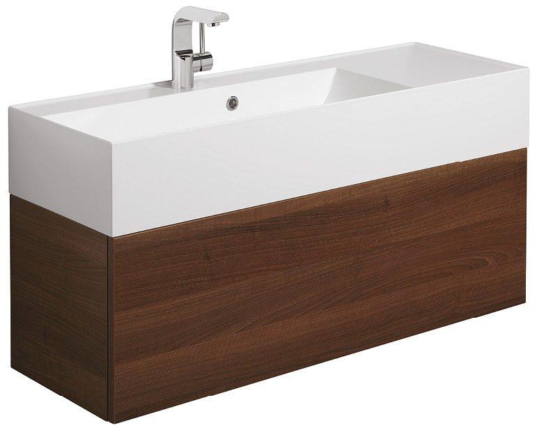 Bauhaus elite walnut 1000mm single drawer basin unit for 1000mm kitchen drawer unit