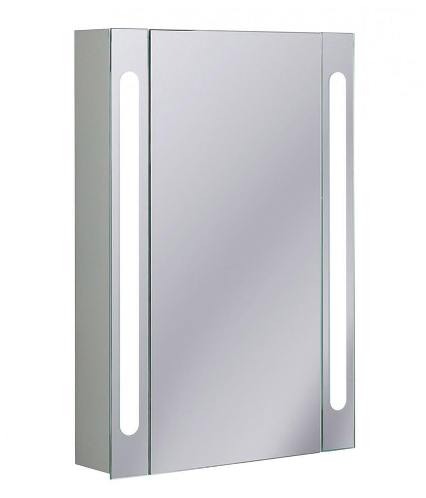 Aluminium Bathroom Cabinets Aluminium 550 X 800mm Single Door Mirrored Cabinet