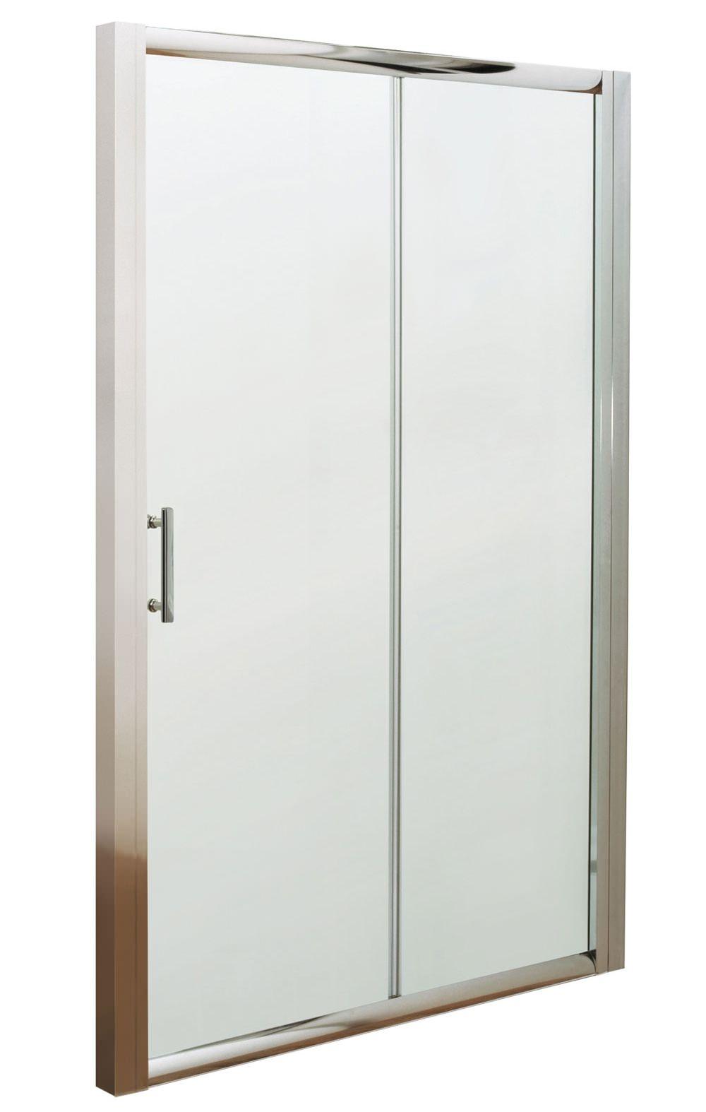 Beo framed single sliding shower door 1000mm for 1000mm sliding shower door