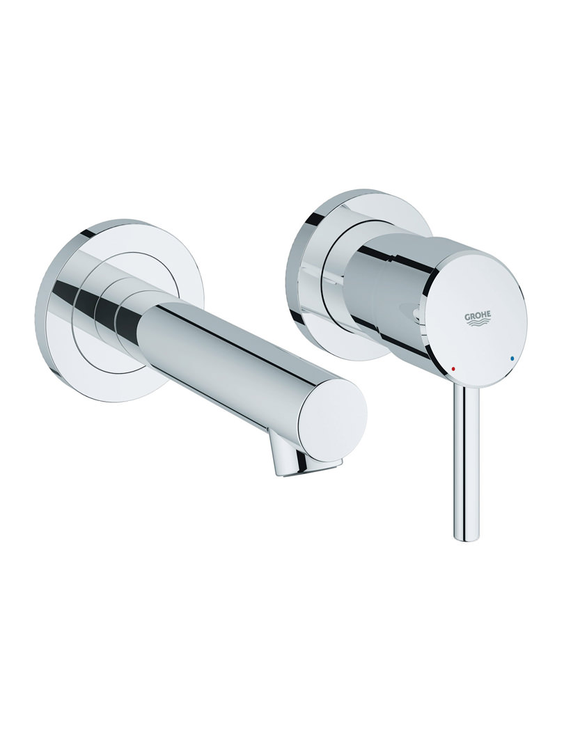 grohe concetto wall mounted 2 hole basin mixer tap. Black Bedroom Furniture Sets. Home Design Ideas