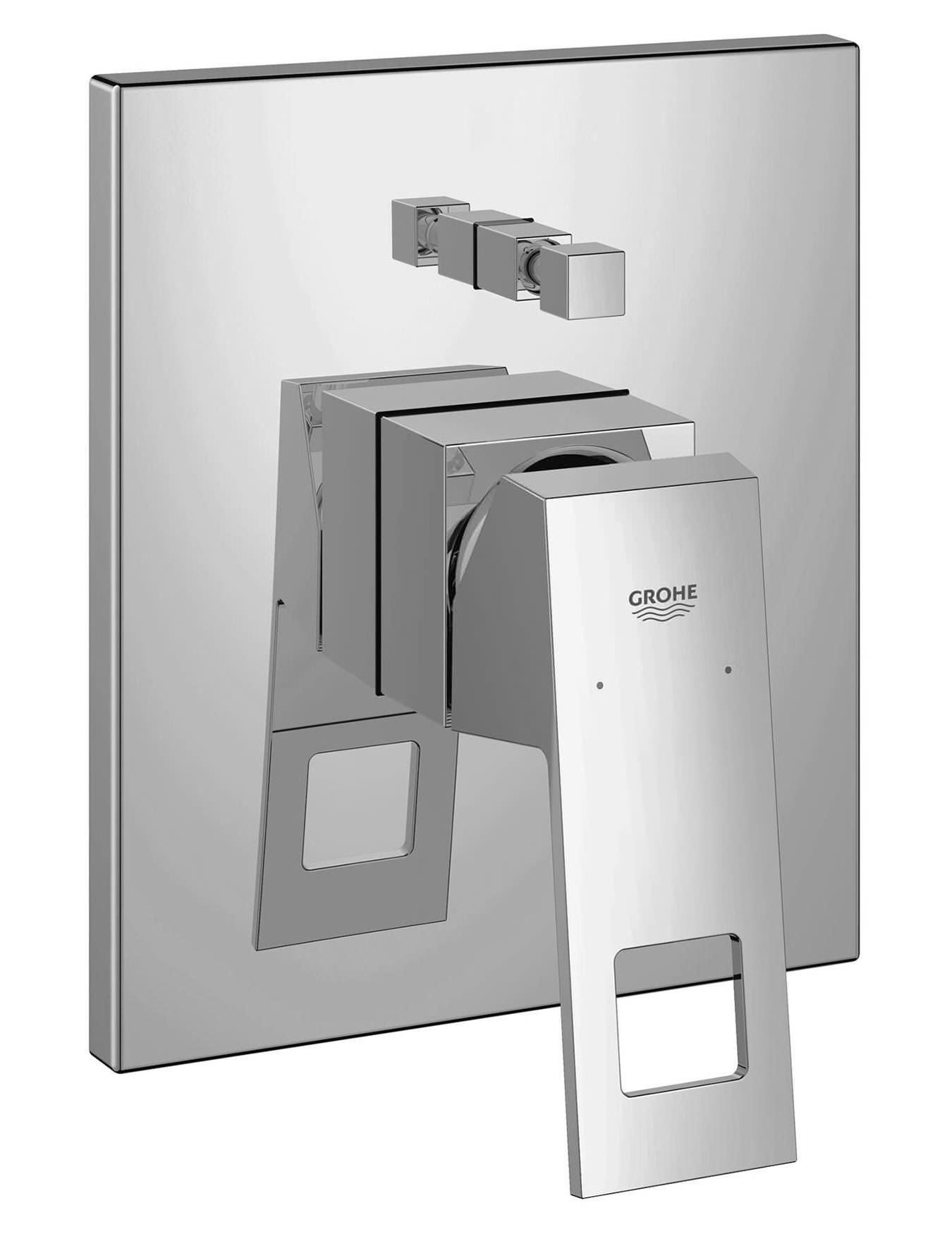 grohe eurocube chrome single lever bath mixer trim. Black Bedroom Furniture Sets. Home Design Ideas