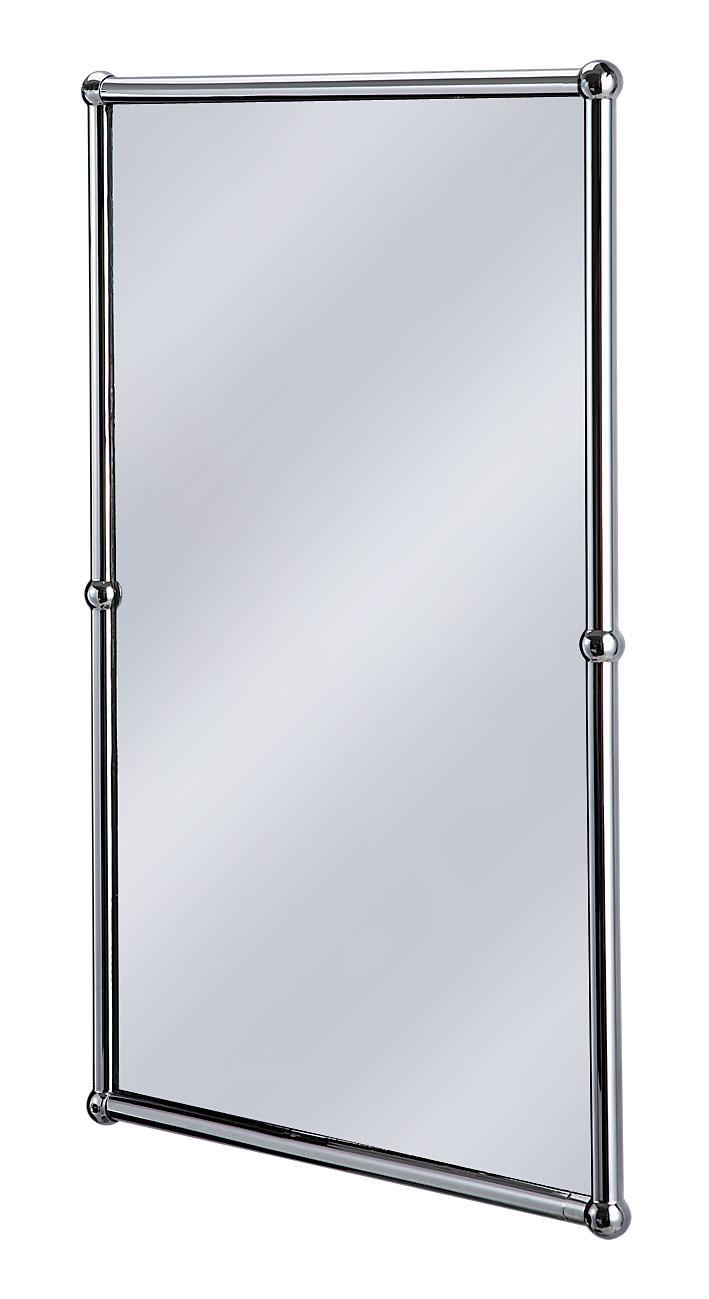 Burlington Rectangular Mirror With Chrome Frame