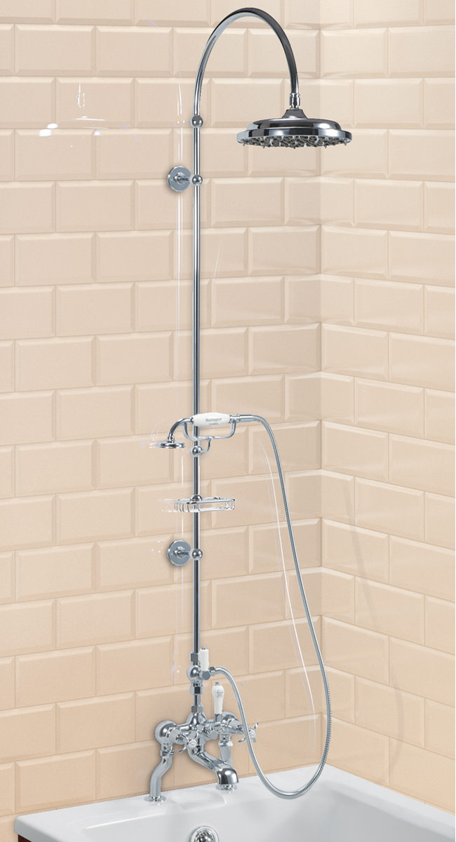 deck mounted bath shower mixer with riser and curved arm elegant bath shower mixer the sink warehouse bathroom