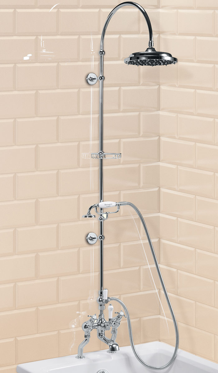angled deck mounted bath shower mixer with rigid riser and classic bath shower mixer the sink warehouse bathroom