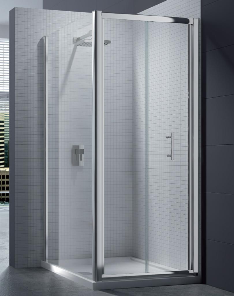 Merlyn 6 Series 4mm Clear Glass Bi Fold Shower Door 760 800mm