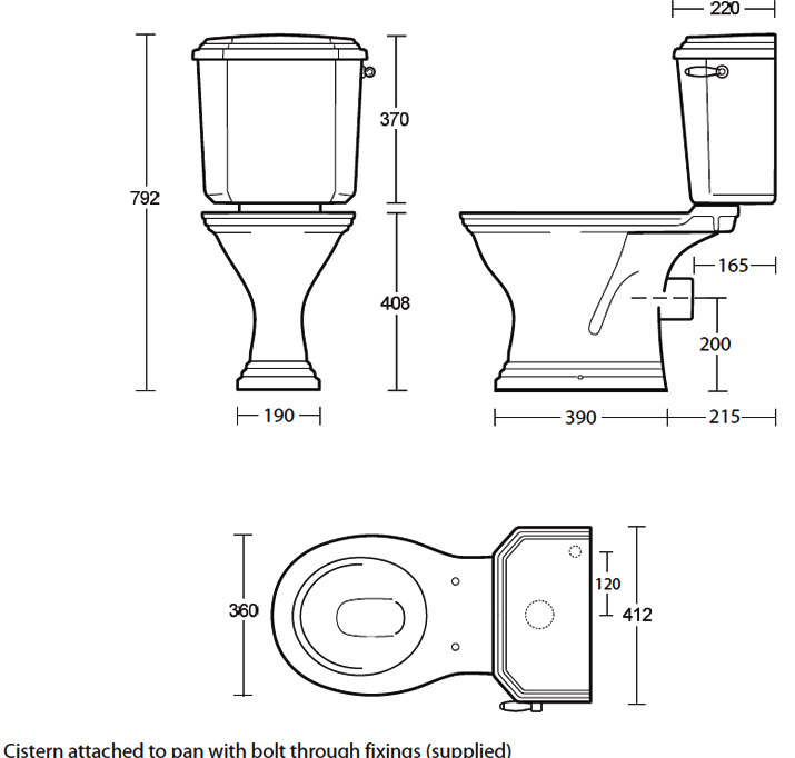 Toilet Seat Sizes Uk. Imperial Astoria Deco Round Bowl Pan And Close Coupled Cistern  sophisticated Toilet Dimensions Contemporary Best nickbarron co 100 Seat Images My Blog