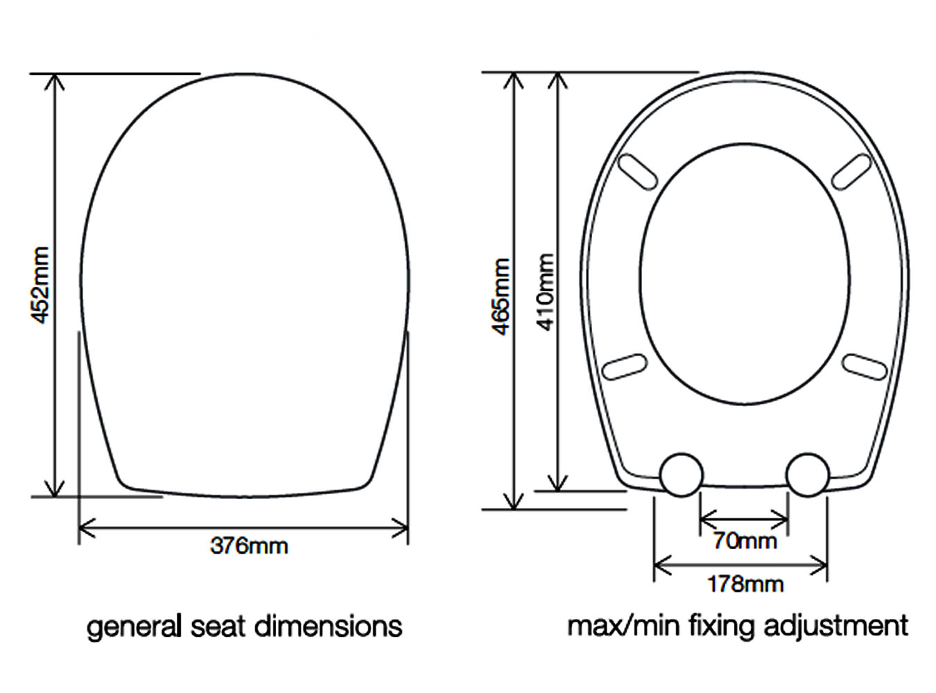 uk toilet seat sizes.  Roper Rhodes Neutron Soft Closing Toilet Seat