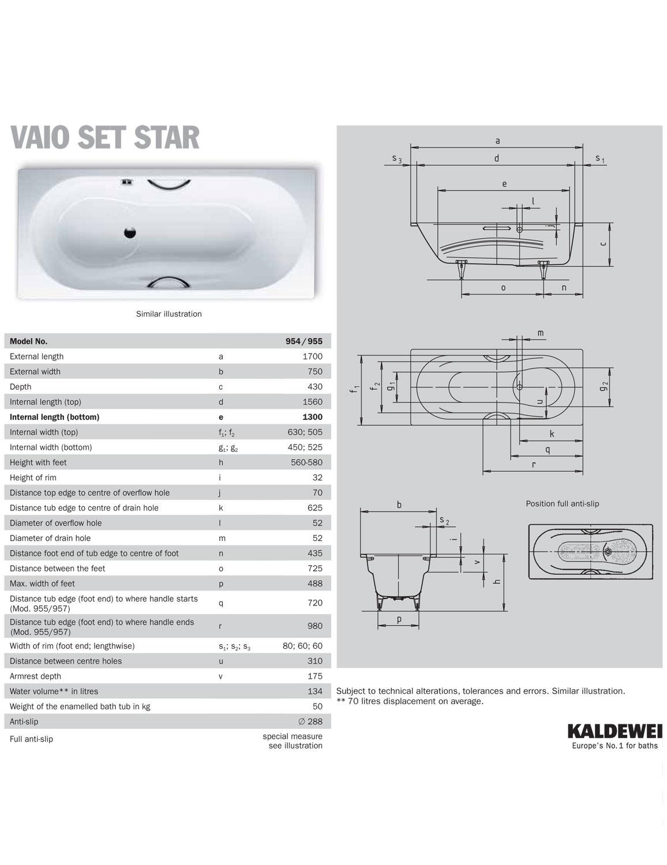 kaldewei ambiente vaio set star 955 steel shower bath 1700 bette cora ronda super steel shower bath 1700 x 900mm