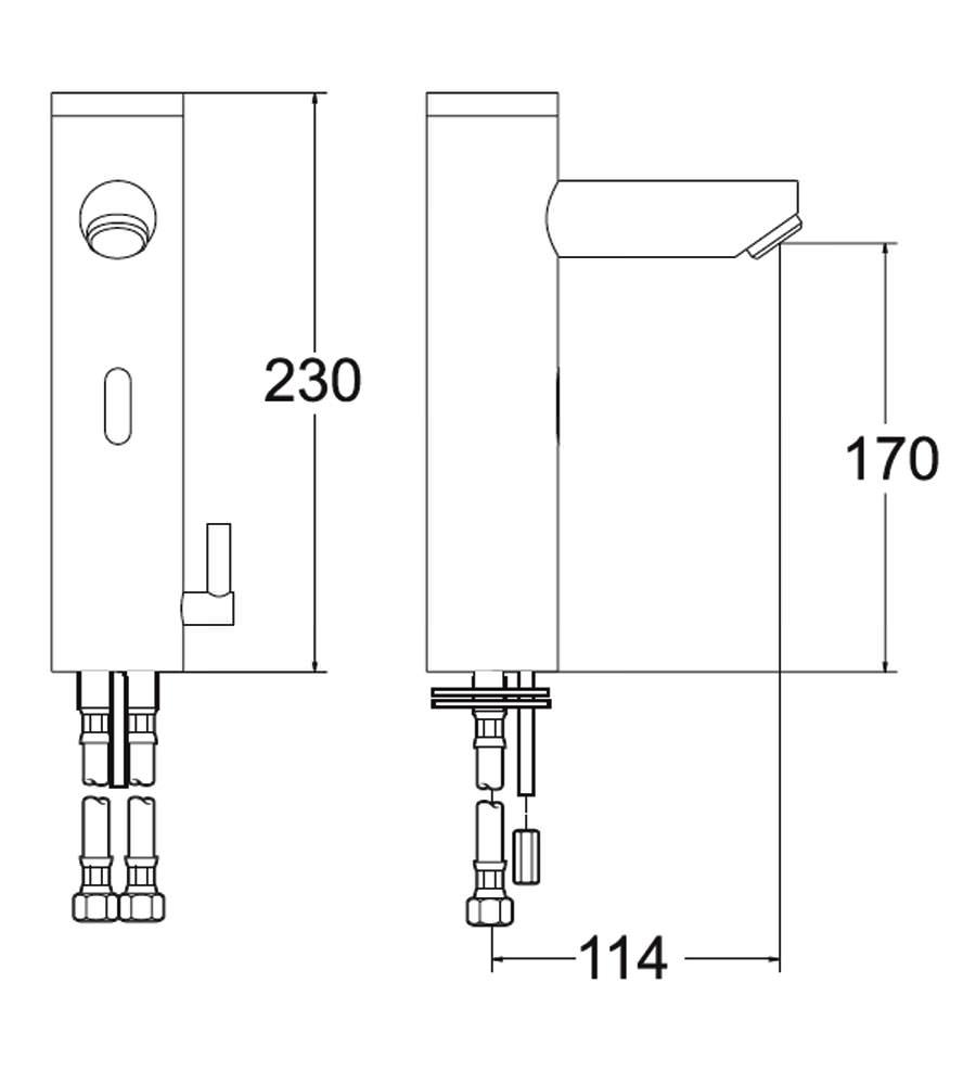 Deva Sensor 6bt Battery Operated Mono Basin Mixer Tap Chrome