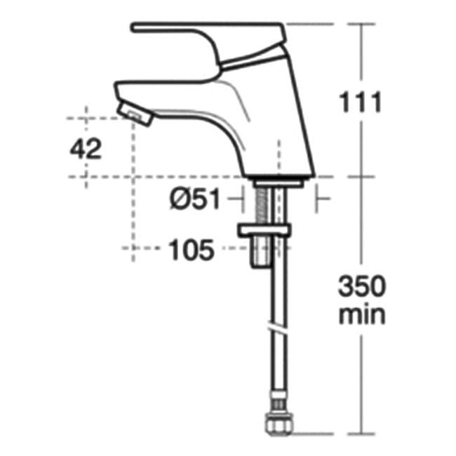 ideal standard alto basin mixer tap without pop up waste