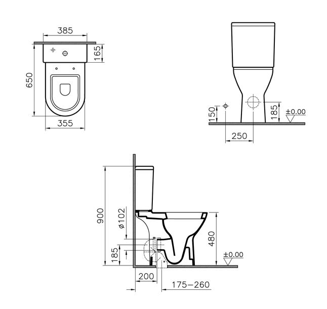 Vitra S50 Comfort Height Close Coupled Wc And Cistern