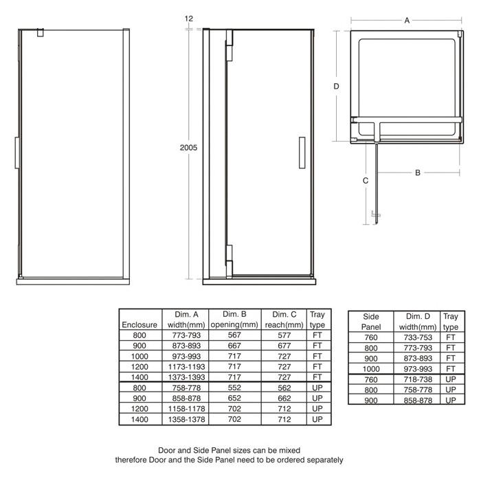 Standard Shower Door Size    VesmaEducation.com