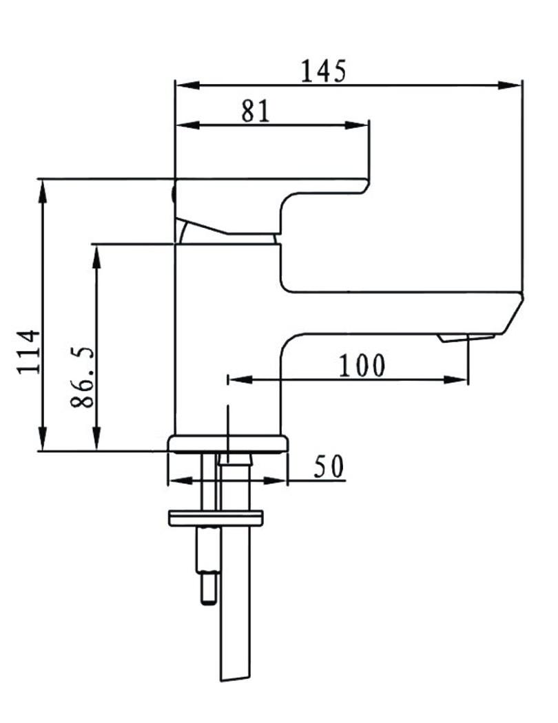 Bristan Cobalt Small Basin Mixer Tap Chrome