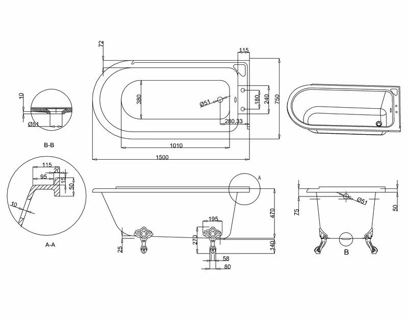 burlington hampton 1500x750mm roll top showering bath 25 best ideas about roll top bath on pinterest clawfoot