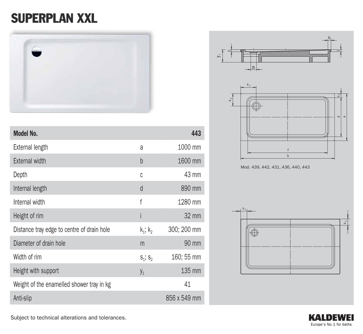 kaldewei avantgarde superplan xxl 1600 x 1000mm steel shower tray. Black Bedroom Furniture Sets. Home Design Ideas