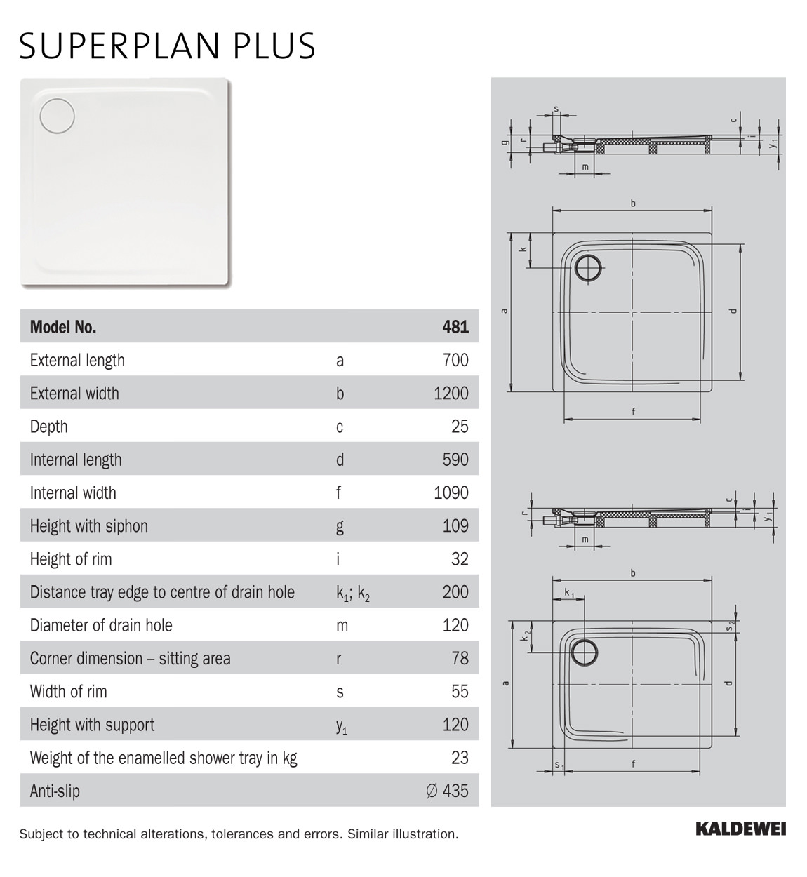 kaldewei avantgarde superplan plus 700 x 1200mm steel. Black Bedroom Furniture Sets. Home Design Ideas