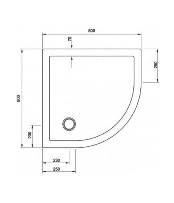 Simpsons Quadrant 800 X 800mm Low Profile Shower Tray